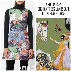 Alice + Olivia Lindsey Enchantress Landscape Dress